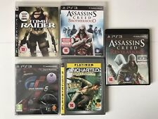 PS3 Game Bundle - Assassins Creed Revelations + Brotherhood+Uncharted+More (740-