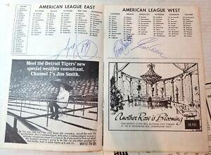 1970 Boston Red Sox scorecard autographed Carl Yastrzemski, Reggie Smith, Lyle