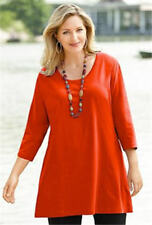 1X 16/18 NWT ULLA POPKEN SWING TIME KNIT TUNIC ORANGE PUMPKIN FALL HALLOWEEN