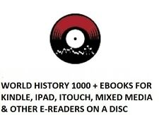 World History 1000 + eBooks for Kindle, iPad, iTouch, Mixed Media on 1 disc