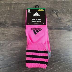 Adidas Copa Zone Cushion Soccer Knee High Hot Pink Black Socks Size Small