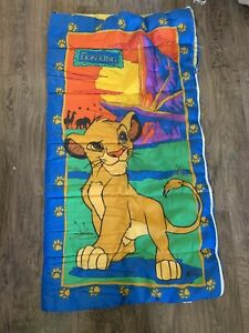 "Vintage 1990's Disney's The Lion King Simba Children's Sleeping Bag 30""x57"""