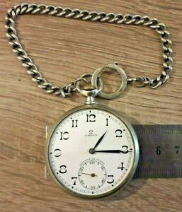 montre à gousset suisse omega plus chaine swiss watch Schweizer Uhr