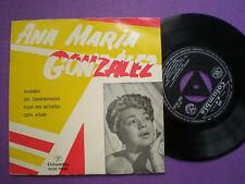 ANA MARIA GONZALEZ Madrid +3 SPAIN EP COLUMBIA 1959 Latin Bolero