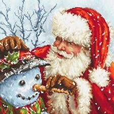 LetiStitch Counted Cross Stitch Kit - LETI 919 Santa Claus and Snowman