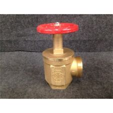 Giacomini A56Y005 Rough Brass Angle Fire Hose Valve Male to Female, 2-1/2