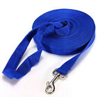 "1"" Wide Nylon Pet Dog Puppy Cat Walking Training Obedience Recall Lead Leash Red"