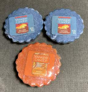 3 YANKEE Candle 2 Autumn Gathering 1 Honey Clementine Tarts Wax Melts