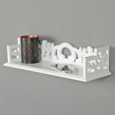 Wandregal ROSALI Wandkonsole 45cm Regal weiß Shabbby Chic Landhaus geschnitzt
