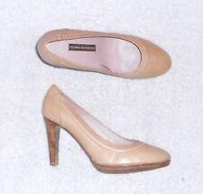 PEDRO MIRALLES escarpins sandales cuir beige P 38 = 38 ½ TBE