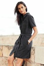 Next Washed Black Utility Pocket Denim Dress 14Tall