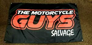THE MOTORCYCLE GUYS  3'X5'  CUSTOM FLAG    4 GROMMETS     MOTORCYCLE ART DISPLAY