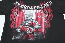 Popeye The Sailor MMA Fighting Muscles Armed & Loaded Black M Medium Tshirt