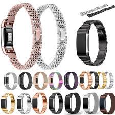 Für Fitbit Charge 2/3 Uhrenarmband Loop Mesh Metall Edelstahl Ersatz Watch Strap
