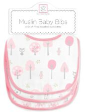 SwaddleDesigns Muslin Baby Bibs Pink Thicket 3pk - Brand New & Free Shipping!