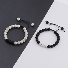Couples Braided Distance Bracelet Fashion Agate Stone Beads Bracelets Lover Gift