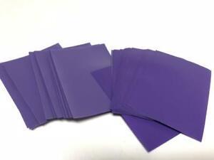 Lenayuyu 100pcs Purple color Protector Standard MTG Card Sleeves 66x91mm Matte