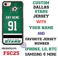 Dallas Stars Personalized Hockey Jersey Phone Case Cover for iPhone etc.
