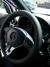 "Dust & Stain Resist PU Leather Steering Wheel Cover 14.25-15"" Eco Friendly"