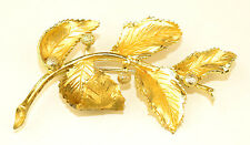 VINTAGE CORO LARGE 3.5 INCH 3-D SCULPTURAL PIN WITH LEAVES & BERRIES - AS IS