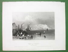 CANADA View Citadel of Kingston - Original Engraving Print by BARTLETT