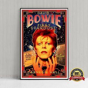Vintage David Bowie Carnegie Hall Poster, David Bowie Music Prints, David Bowie