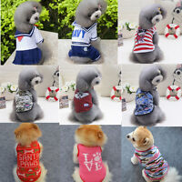 New Cartoon Dog Vest Dress Small Pet Cat Clothes Little Puppy Lovely Apparel