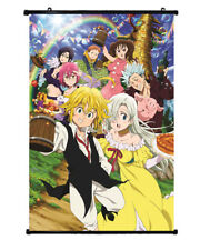 Anime Nanatsu No Taizai The Seven Deadly Sins Poster Wall Scroll Painting 60cm