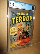 Tales of Terror 1 CGC 5.0 OW Fawcette Headlights Toby Horror Flying Saucer 1952