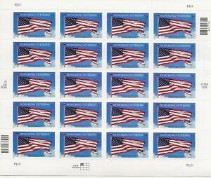 2001 34 cent Honoring Veterans full Sheet of 20 Scott #3508, Mint NH