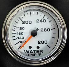 "Marshall Comp II 3214 Mecanical Water Temp Gauge 2 5/8"" White 100-280 F"