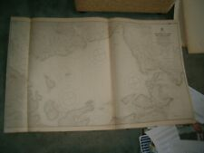Vintage Admiralty Chart 3729 UK - SCAPA FLOW & APPROACHES, NORTH PART 1916 edn