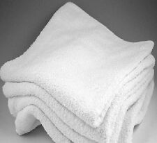 120 NEW WHITE 100% COTTON WASHCLOTHS CAM BORDER HOTEL MOTEL FACIAL BARBER 12X12