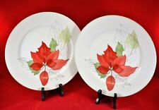 Block Spal Poinsettia Dinner Plates by Mary Lou Goertzen: set of 2