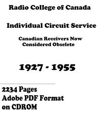 Radio College of Canada Individual Circuit Service * DVD * PDF * 1927-1955 KE3GK