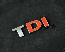 TDI Chrome Red 3D Sticker for Car Volkswagen VW Polo GTI Vento Jetta Passat