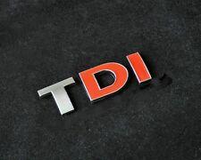 TDI Chrome Red 3D Sticker for Car Volkswagen VW Polo GTI Vento Jetta Passat