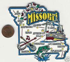 MISSOURI MO STATE  MAP JUMBO MAGNET 7 COLOR  JEFFERSON CITY  ST LOUIS  BRANSON