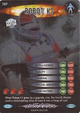 """Doctor Who Battles In Time Ultimate Monsters - Rare """"Robot K1"""" Card #787"""
