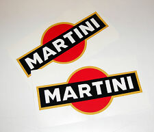 LE MANS MARTINI style stickers decals 20cm logos x2