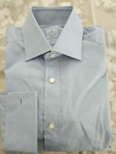 $475 Truzzi shirt  Alumo cotton  light blue