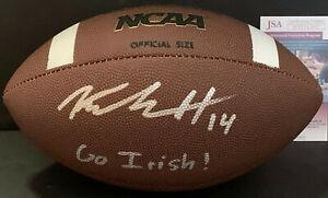Kyle Hamilton Notre Dame Auto Signed NCAA Football JSA Witness COA GO IRISH!