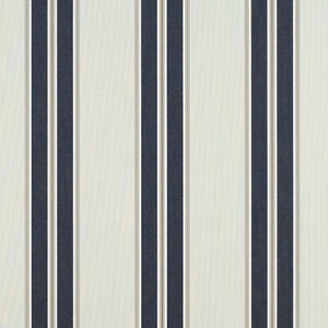 "Sunbrella® Navy / Taupe Fancy 4916-0000 Awning Marine Outdoor 46"" W Fabric"
