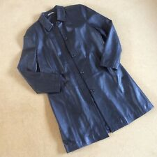 Ladies Leather M&S long jacket coat / Size UK 14. pr