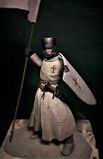 Frank Mins Templar Crusader Standard bearer 75mm Unpainted resin kit MIKE BLANK