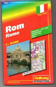 Rom - Stadtplan - 1:15.000 - Hallwag City Map  unbenutzt
