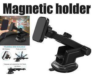 360°Universal Magnetic Car Telescopic Long Arm Windscreen Dashboard Phone Holder