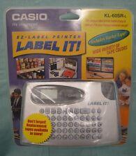 New CASIO KL-60SR-L PLUS EZ-LABEL IT PRINTER Starter TAPE Label Battery Operated