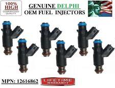 2009-2010 Chevrolet Malibu 3.5L V6 Reman 6x OEM Delphi #12616862 Fuel Injectors