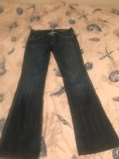 7 For All Mankind A POCKET Jeans Low Rise Boot Cut Blue Denim Pants Women 27